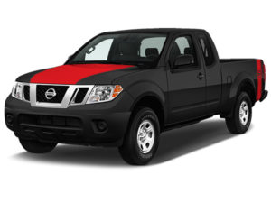 Nissan Frontier Red Hood Cowl with Red Nissan Logo Stripe
