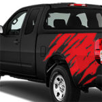 Nissan Frontier Shredder Graphic - Gloss Red