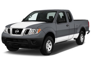 Nissan Frontier White Hood Cowl with White Lower Side Stripe